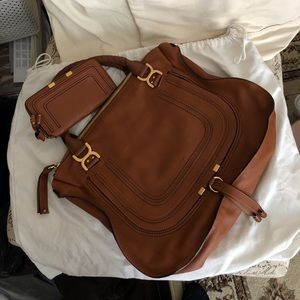 EUC Chloe Large Marcie satchel and wallet